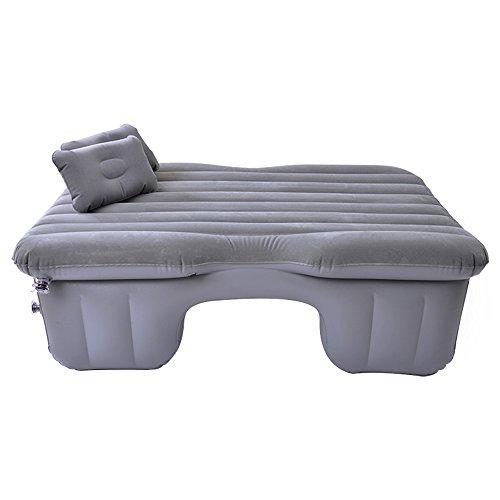 Car bed HUO Heizung Aufblasbare Matratze Mit Luftpumpe, Luft Bett Rücksitz Von Auto Reisen Camping Universal (Farbe : Grau)
