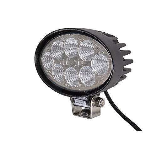 HELLA 1GA 357 001-001 LED-Arbeitsscheinwerfer - Valuefit O1200 - 12/24V - oval - 1200lm - Anbau - stehend - Nahfeldausleuchtung - Kabel: 530mm