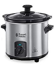 Russell Hobbs Compact Home Mini Slowcooker (1,5L), 3 Warmtestanden, Uitneembare Keramische Pan, Zuinig, Deksel van Gehard Glas, 25570-56