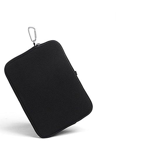 K-S-Trade Kompatibel Mit Asus Transformer Book T100 HA Neopren Hülle Schutzhülle Neoprenhülle Tablethülle Tabletcase Tablet Schutz Gürtel Tasche Hülle Holster Sleeve Business Schwarz