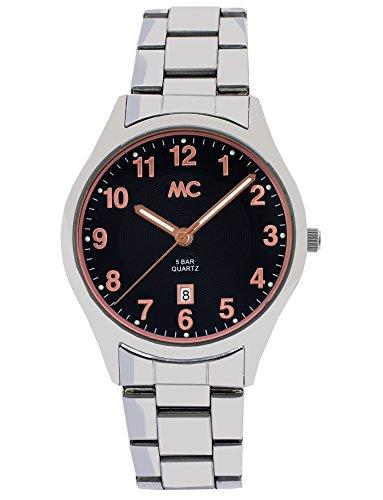 MC Timetrend Herren Analog Quarz Uhr mit Edelstahl Armband 27784