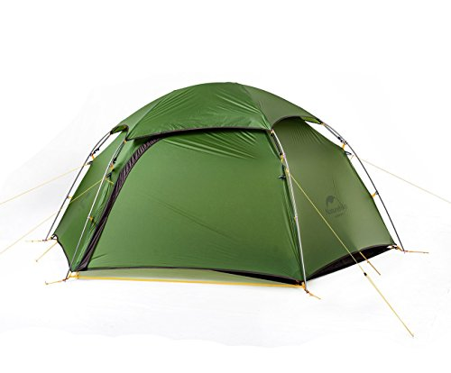 Naturehike公式ショップ テント キャンピング アウトドア キャンプ ハイキング用 登山 2人用 二重層 ドーム型 超軽量 防風防雨 PU4000(専用グランドシート付)