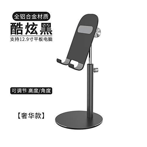 Universal Mobile Phone Desktop Adjustable Stand Aluminum Alloy Mobile Phone Stand Ipad Tablet Lazy Stand Live Tv Chase Stand Classic Black