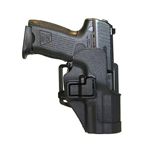 Vioaplem Combate Calidad Ejército Alta Táctico Militar Funda De Caza Al Aire Libre Paintball Shooting Cinturón De Cintura Pistolera For HK USP Compacto Pistoleras (Color : Black)