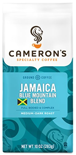 Cameron's Coffee Roasted Ground Coffee Bag, Jamaican Blue Mountain Blend, 10 Ounce