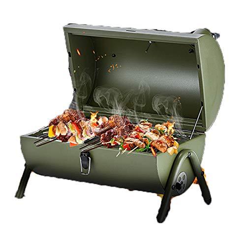 LICHUXIN im Freien Holzkohle gegrillt tragbarer Grill Camping Picknick Edelstahl leicht Ofen platziert Autorücksitz wölbte innere Zirkulation zu installierende