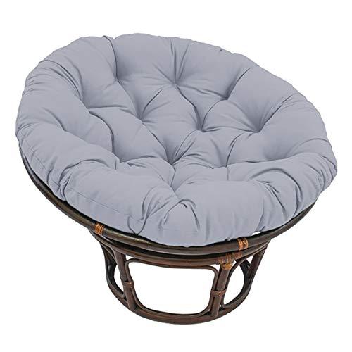 Papasan - Cojines redondos para silla, impermeable, para exteriores, con lazos, para sala de estar, lectura, libros, guardería, balcón, 60 cm