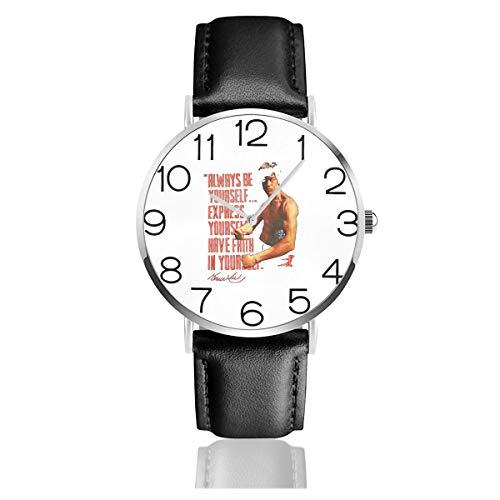 腕時計 メンズ ブルースリー 燃えよドラゴン 映画 名作 カンフー PUレザー ウォッチ ビジネス コマース 人気 スタンダード 青年 男性用 クォーツ時計 ステンレス 上品 ユニセックス カップル用 カジュアル 装飾品 個性的