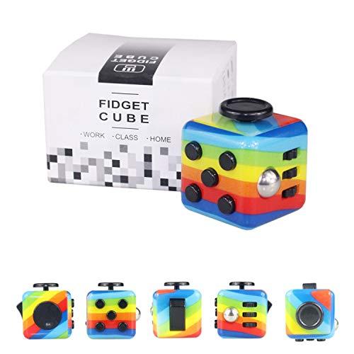Yetech Rainbow Juguete Antiestrés Stress Cube,Cubo Anti-e