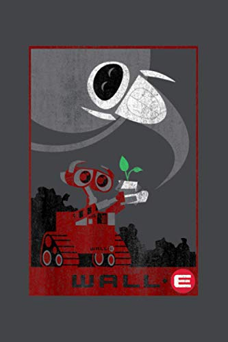 Disney Pixar Wall E Plant Boot Rescue Graphic: Notebook Planner -6x9 inch Daily Planner Journal, To Do List Notebook, Daily Organizer, 114 Pages