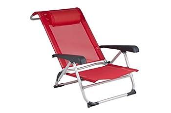 Red Mountain - Chaise de Plage - Saint-Tropez - Rouge