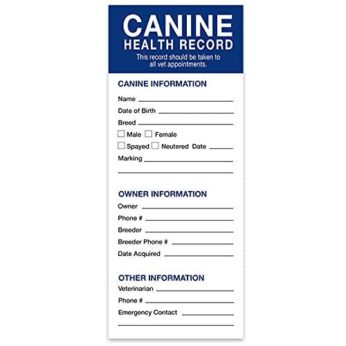 Revival Animal Health Dog Health Records, 25 pk
