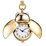 CHYSP Reloj de bolsillo para niños, diseño de mariquita, diseño de mariquita, regalo para el día del padre, cumpleaños, aniversario (color B: B)