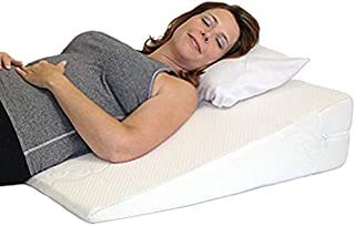 Acid Reflux Wedge Pillow - USA Made with Memory Foam Overlay and Removable Microfiber Cover