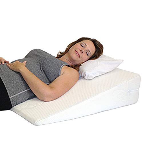 """Acid Reflux Wedge Pillow. USA Made with Memory Foam Overlay and Removable Microfiber Cover""""Big"""" by Medslant. 31x28x7 Recommended Size for GERD & Other Sleep Issues. 1 Business Day Ship No Restock Fee"""
