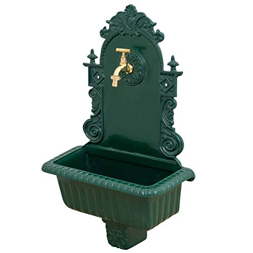 aubaho Lavabo Verde Giardino Fontana a Muro Alu Fontana Bacino del Bagno Bacino Stile