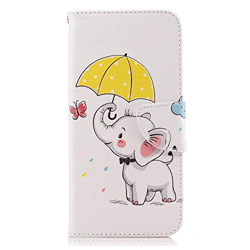 Save %7 Now! Flip Case for Huawei P20, Leather Cover Business Gifts Wallet with Extra Waterproof Und...