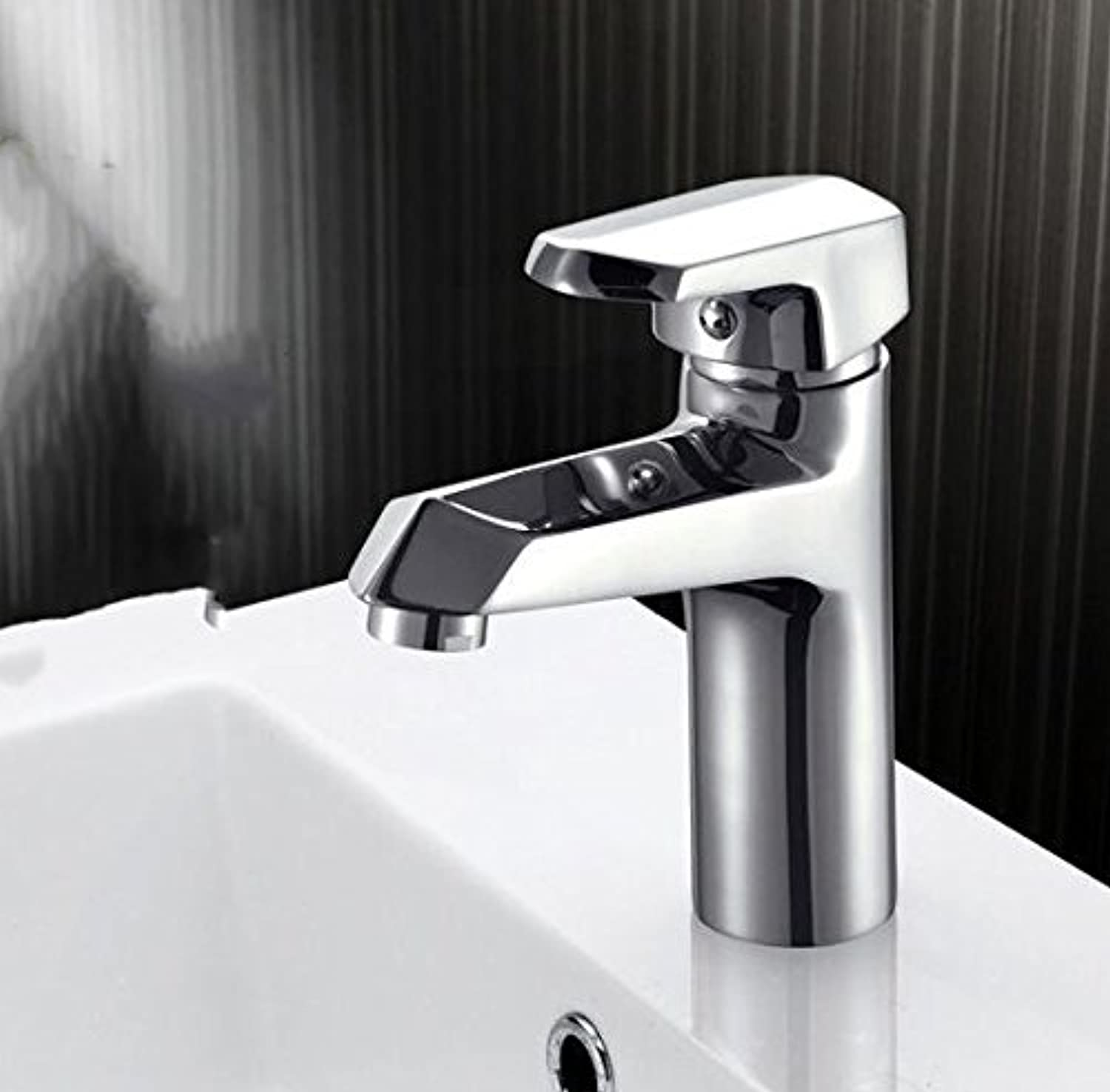 Diongrdk Single Hole Toilet Sink Basin Faucet Mixer Water Tap, Bathroom Wash Basin Faucet Chrome, Brass Basin Faucet Hot and Cold