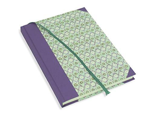 Notizbuch A5 blanko, Skizzenbuch lila, Tagebuch, Bullet-Journal, 192 Seiten Premium-Papier Munken pure 90g cremeweiss, FSC- und ECO-Label, auch geeignet für Kugelschreiber und Buntstifte