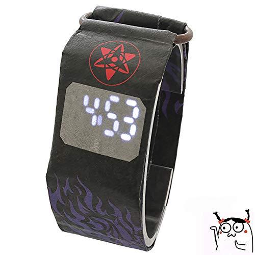 Mysterious Shop Diferente Reloj LED Luminoso Atracción Magnética Hebilla De Papel Reloj 12 Horas/Segundos Pantalla De Hora/Fecha Impermeable Dupont Reloj De Fibra De Papel,02
