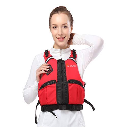 SXZSB Classic Byoyancy Aid Gilet Float Che Nuota Galleggiabilità Giacca Da Salvataggio All'aperto per Bambini E Snorkeling per Bambini Adulti Abito Da Pesca Kayaking Boatch,Rojo,M