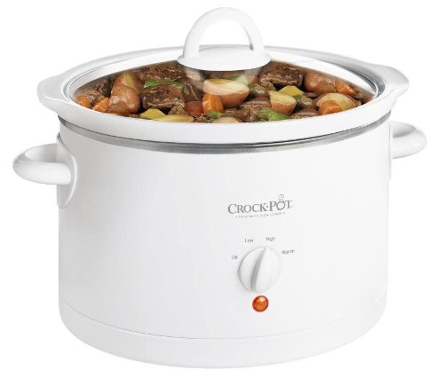 Crock-Pot 3060-W 6-Quart Round Slow Cooker, White