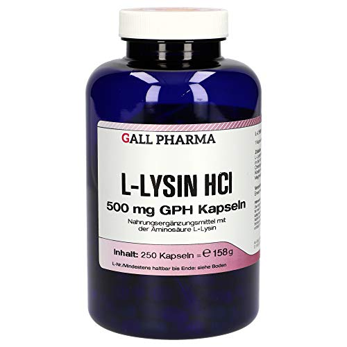 L-Lysin Hcl 500mg GPH 250 St