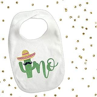 1 piece uno cactus mustache bib toddler boy girl for first birthday gift cake smash photo prop fiesta party theme