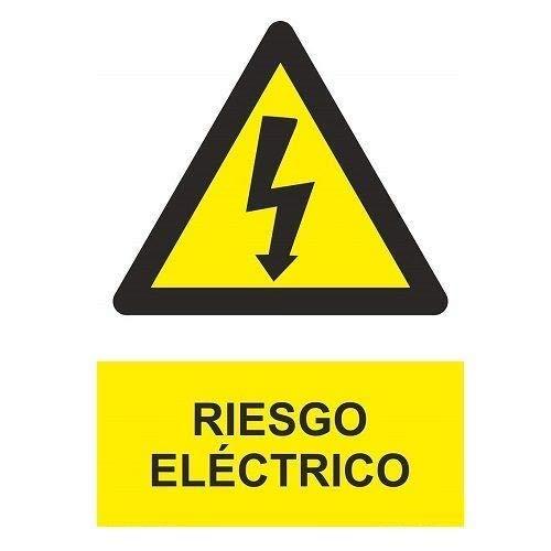 CABLEPELADO Señal Adhesiva Riesgo Electrico 10x15cm Amarillo
