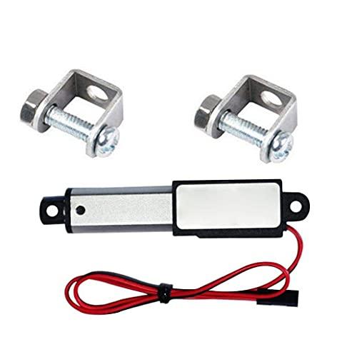 30n Velocidad Lineal del actuador 12v 30 mm Longitud 30 mm Micro Mini eléctrico a Prueba de Agua con Soportes de Montaje para el Coche Auto