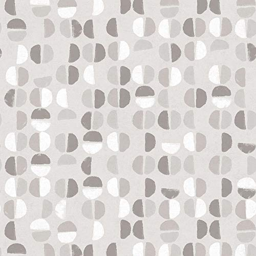 Tempaper Stone Gray Coffee Beans | Designer Removable Peel and Stick Wallpaper