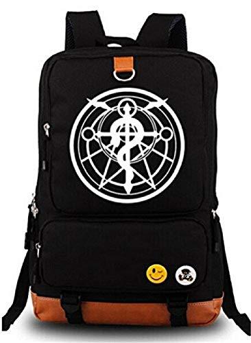 Bkckzzz Japanische Anime Cosplay Leinwand Bookbag Rucksack Umhängetasche Schultasche @ Fullmetal_Alchemist