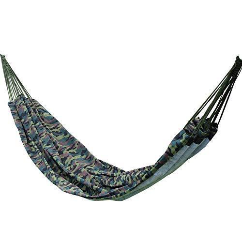 Lymup, amaca per 2 persone, 200 x 145 cm, per attività all'aria aperta, per il tempo libero, letto da appendere, camuffamento, letto matrimoniale, in tela, dondolo, campeggio, confortevole