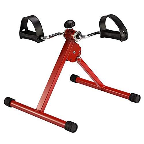 KHXJYC Mini Bicicleta EstáTica Plegable, Equipo De Ejercicio para Piernas Flacas Y Perezosas, Mini Bicicleta EstáTica con Pedales para RehabilitacióN En El Hogar, Equipo PortáTil para,Rojo