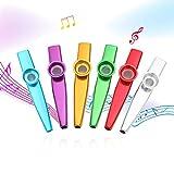 EastRock Kazoo Metall Musikinstrumente gute Geschenk für Kinder Musikliebhaber Bunt