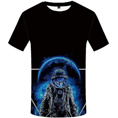 Htekgme Astronaut T Shirt Mannen Space Shirt Print Galaxy Shirts Casual Harajuku T Shirt Gedrukt Anime Kleding Mannen Kleding
