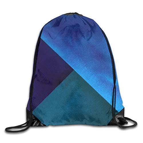 Nonebrand - Bolsa de cordón para pintar con forma de bloque de acuarela, color azul turquesa
