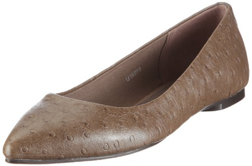 ESPRIT Andrea Ballerina U10318, Damen, Ballerinas, Beige (dark beige 251), EU 36