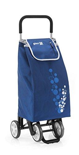 Gimi Trolley Twin, Einkaufstrolley, waschbare Regenschutztasche, blau, 56 l Volumen, 30 kg Traglast