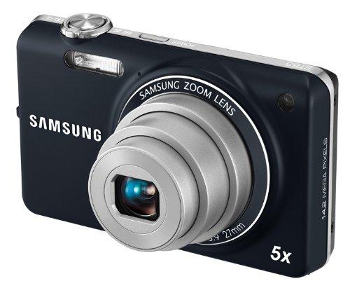 Samsung ST65 Digitalkamera (nur Micro-SD, 14,2 Megapixel, 5-fach opt. Zoom, 6,9 cm (2.7 Zoll) Display, bildstabilisiert) blau