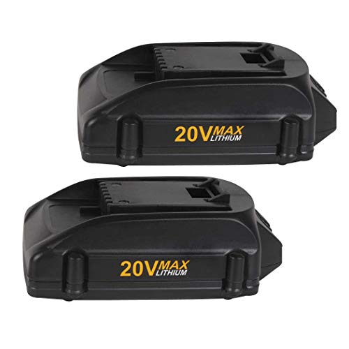 2 Pack 20v 2.0Ah Replacement Lithium Battery for Worx WA3520, WA3525 WG151s, WG155s, WG251s, WG255s, WG540s, WG545s, WG890, WG891