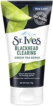 3-Count St. Ives Blackhead Clearing Face Scrub, Green Tea, 6 oz