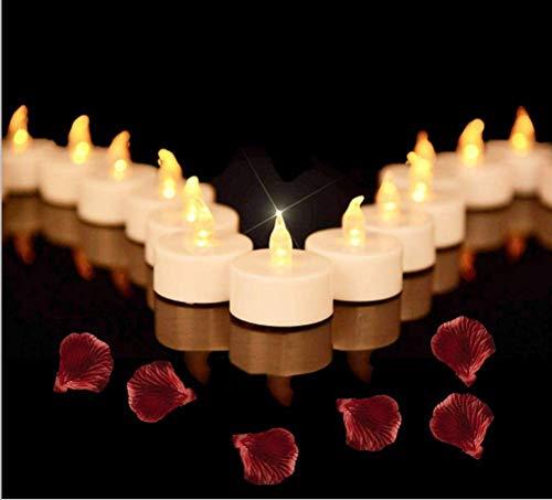Beneve Velas de té LED, 50 velas LED sin llama, realistas y