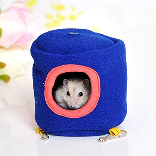 Unknown House Rabbits - Cute 10cm Hanging Bed Toy House Hammock Ferret Rabbit Rat Hamster Parrot Squirrel - Coop Hare Batting Cage Lapin Coney - 1PCs