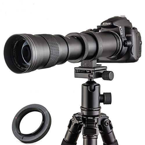 JINTU 420-800mm 望遠ズームレンズF/8.3-F16 キヤノン用80D, 70D, 77D, 60D, 60Da, 1Ds, Mark III and II 7D, 6D, 5D, 5DS Rebel T7i, T7s, T6s, T6i, T6, T5i, T5, T4i, T3, SL2, SL1 デジタル一眼レフカメラ