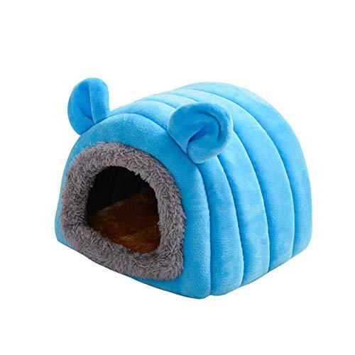 Meerschweinchen-Bett – warmes Hamsterbett, gemütlich, weiches Plüsch-Haustierhöhle, niedliches Meerschweinchenkäfig, Zubehör, Kleintierbett, Versteck für Meerschweinchen, Chinchillas, Hamster, Igel