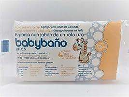 Babybaño Esponja Jabonosa De Un Solo Uso Para Bebés, 0 A 3 Años - Estuche De Esponjas, Blanco, 25 Unidad