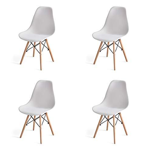 Sillas De Comedor Blancas 4 sillas de comedor blancas  Marca WV LeisureMaster