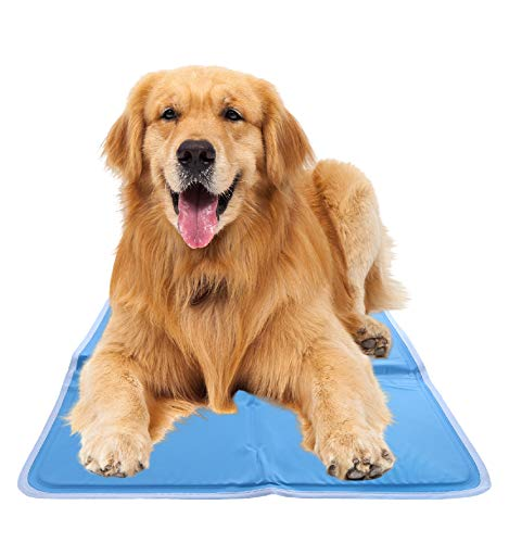 CHILLZ Cooling Pad for Dogs – Extra Large Dog Cooling Mat, 37 x 31.5 Inches – Blue Pet Cooling Mat Bed Mats