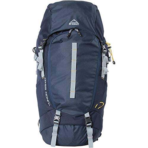 McKINLEY Trek-Sac a dos Yukon 55 + 10 Iv Sac à dos Homme Navy/Gris/Olive FR : Taille Unique (Taille Fabricant : 55)